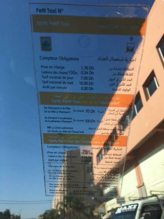 tarif-taxi-marrakech